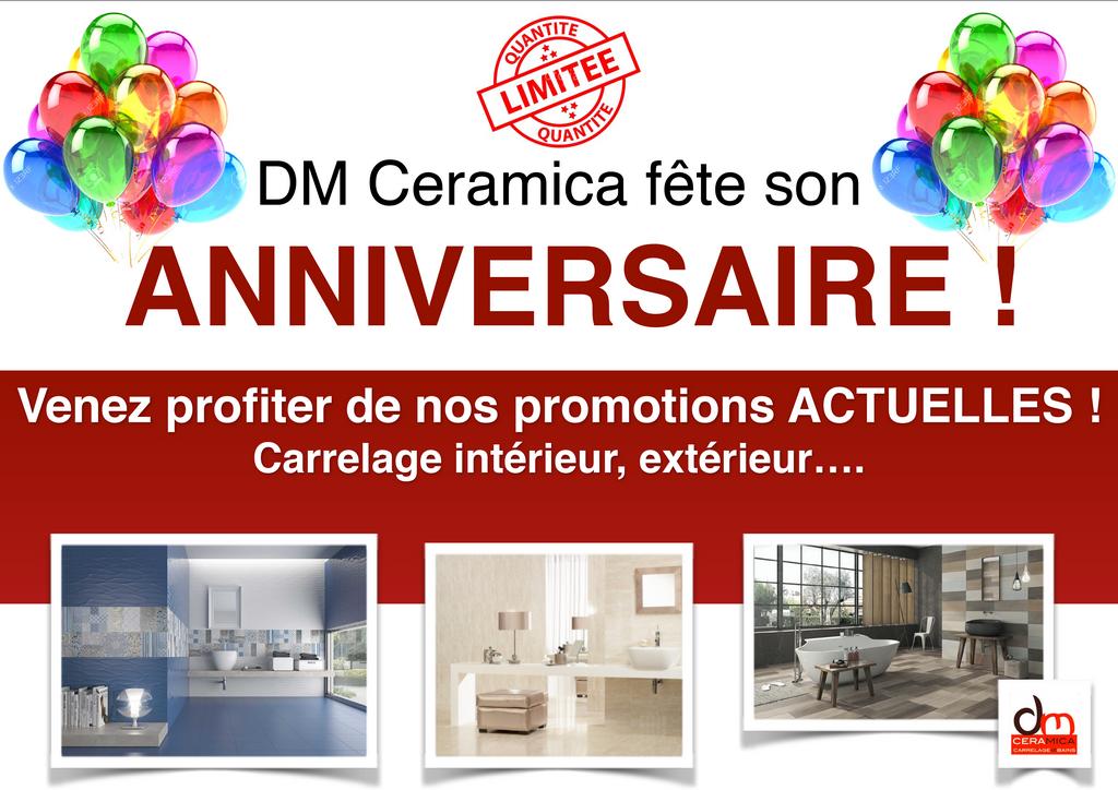 promo anniversaire dm ceramica DM Ceramica Carrelage Loire Haute-Loire