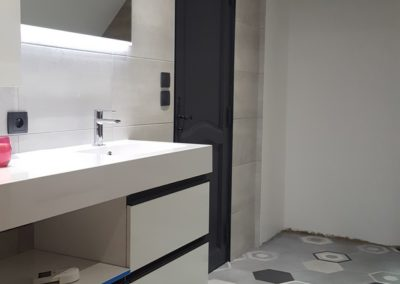Salle de bain carrelée-DC-Ceramica à Firminy
